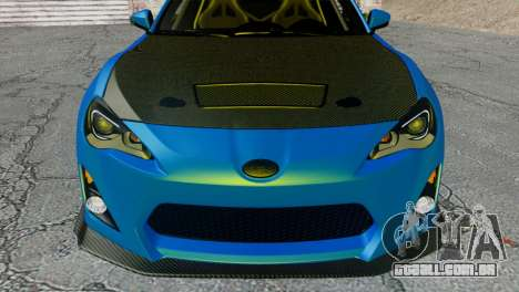 Subaru BRZ Drift Built para GTA San Andreas vista traseira
