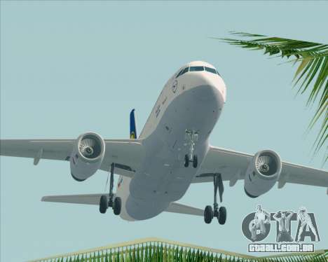 Airbus A319-100 Lufthansa para GTA San Andreas interior