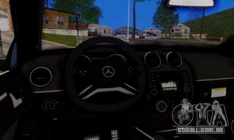 Mercedes-Benz ML63 AMG para GTA San Andreas vista interior