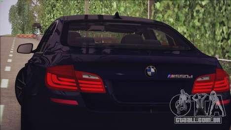 BMW M550d 2014 para GTA San Andreas esquerda vista