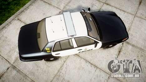 Ford Crown Victoria Ontario Police [ELS] para GTA 4 vista direita
