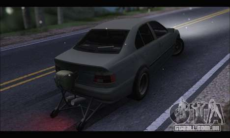 BMW e39 Drag Version para GTA San Andreas traseira esquerda vista