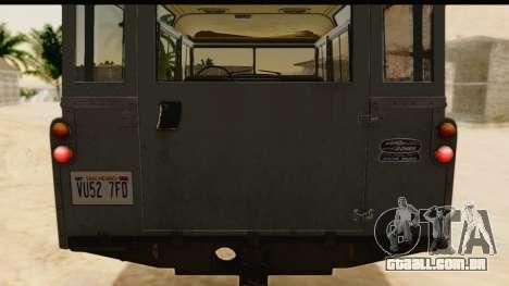 Land Rover Series IIa LWB Wagon 1962-1971 [IVF] para GTA San Andreas vista interior