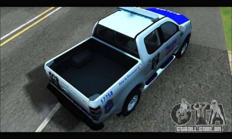 Ford Ranger P.B.A 2015 Text4 para GTA San Andreas traseira esquerda vista