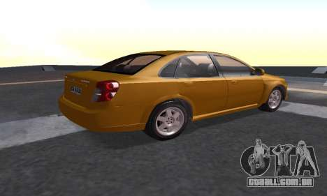 Chevrolet Lacetti para GTA San Andreas esquerda vista