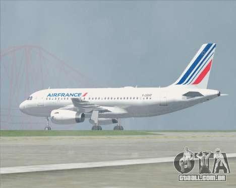 Airbus A319-100 Air France para as rodas de GTA San Andreas