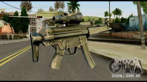 MP5 from Max Payne para GTA San Andreas segunda tela