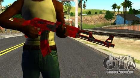 AK47 with Blood para GTA San Andreas terceira tela