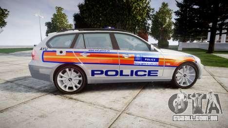 BMW 325d E91 2009 Metropolitan Police [ELS] para GTA 4 esquerda vista