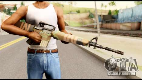 M16 from Metal Gear Solid para GTA San Andreas terceira tela