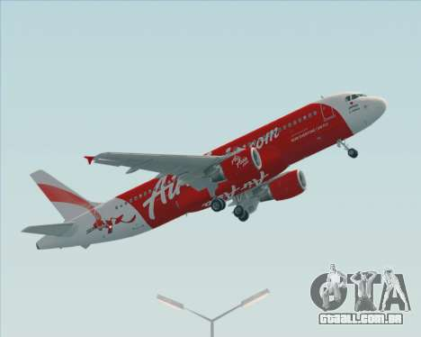Airbus A320-200 Air Asia Japan para GTA San Andreas esquerda vista
