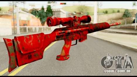 Sniper Rifle with Blood para GTA San Andreas segunda tela