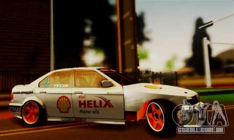 BMW M3 E36 Darnitsa Bandits para GTA San Andreas traseira esquerda vista