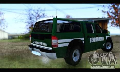 Chevrolet S-10 Gendarmeria para GTA San Andreas traseira esquerda vista