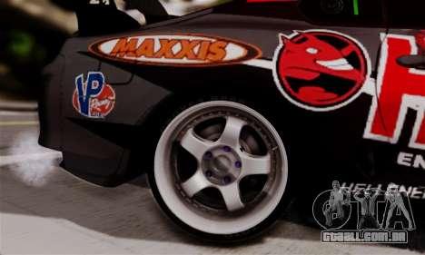 Toyota Supra HELL DT para GTA San Andreas traseira esquerda vista