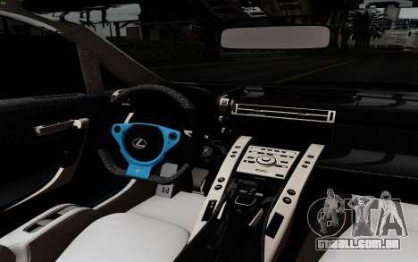 Lexus LF-A 2010 para GTA San Andreas vista traseira