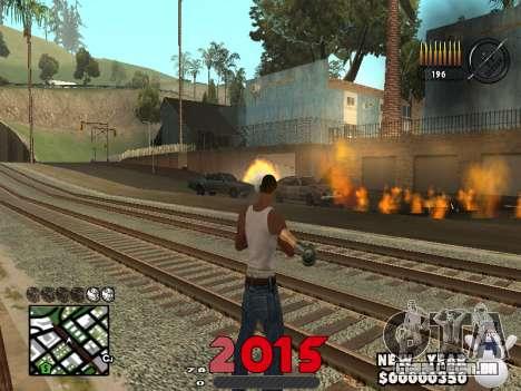 CLEO HUD New Year 2015 para GTA San Andreas segunda tela