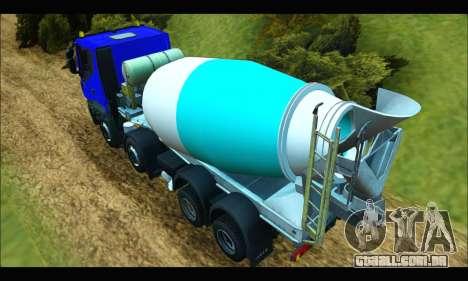 Iveco Trakker 2014 Concrete para GTA San Andreas traseira esquerda vista