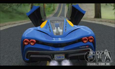 Grotti Turismo R v2 (GTA V) para GTA San Andreas vista direita