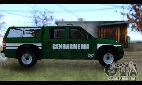 Chevrolet S-10 Gendarmeria para GTA San Andreas esquerda vista