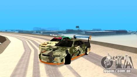 Nissan Skyline R34 FAIL CREW 2014 para GTA San Andreas
