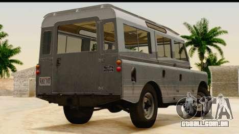 Land Rover Series IIa LWB Wagon 1962-1971 [IVF] para GTA San Andreas esquerda vista