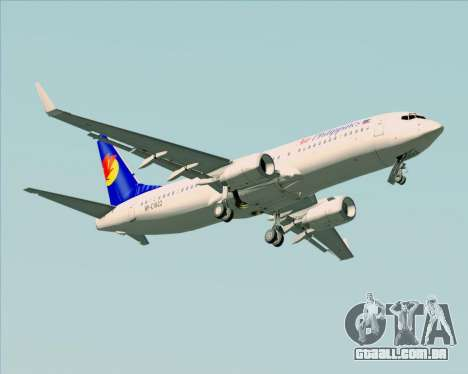 Boeing 737-800 Air Philippines para GTA San Andreas vista superior