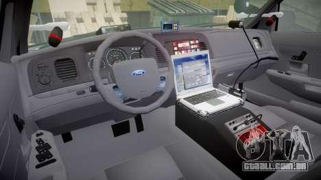 Ford Crown Victoria Highway Patrol [ELS] Slickto para GTA 4 vista de volta