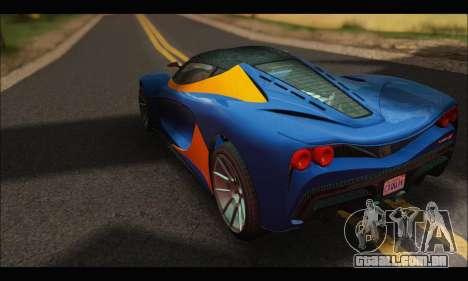 Grotti Turismo R v2 (GTA V) para GTA San Andreas traseira esquerda vista