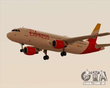 Airbus A320-200 Iberia Express para GTA San Andreas traseira esquerda vista