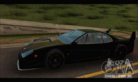 Turismo Limited Edition para GTA San Andreas traseira esquerda vista