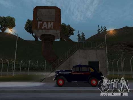 Moskvich 400 Policiais para GTA San Andreas vista direita