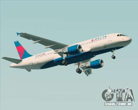 Airbus  A320-200 Delta Airlines para GTA San Andreas traseira esquerda vista