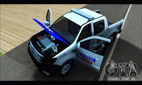 Ford Ranger P.B.A 2015 Text4 para GTA San Andreas vista traseira