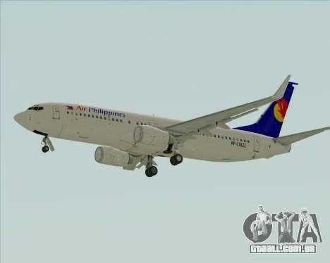 Boeing 737-800 Air Philippines para GTA San Andreas vista traseira