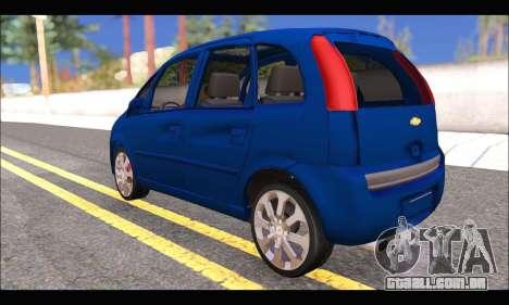 Chevrolet Meriva para GTA San Andreas traseira esquerda vista