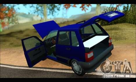 Zastava Yugo Uno para GTA San Andreas vista traseira