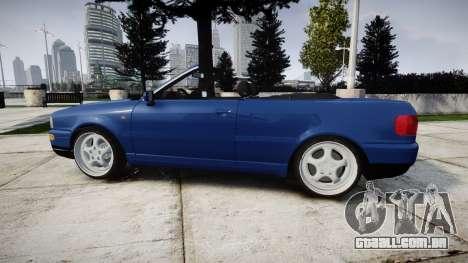 Audi 80 Cabrio us tail lights para GTA 4 esquerda vista