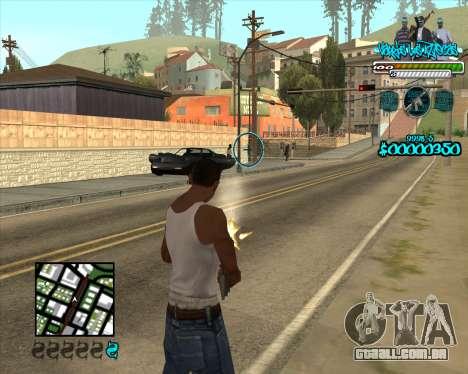 C-HUD for Aztecas para GTA San Andreas segunda tela