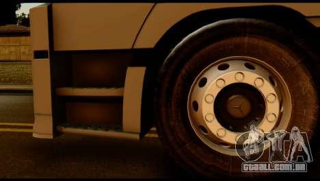Mercedes-Benz Actros PJ2 para GTA San Andreas traseira esquerda vista