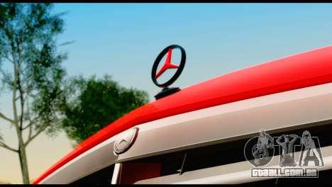 Mercedes-Benz E250 para GTA San Andreas vista traseira