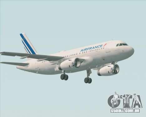 Airbus A319-100 Air France para GTA San Andreas vista superior