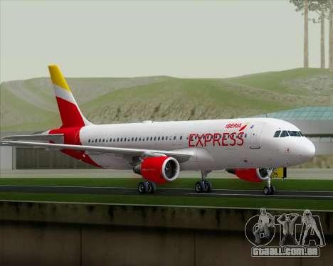 Airbus A320-200 Iberia Express para GTA San Andreas vista direita