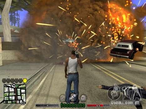 C-HUD v2.0 para GTA San Andreas terceira tela