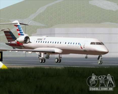 Bombardier CRJ700 American Eagle Airlines para GTA San Andreas vista superior
