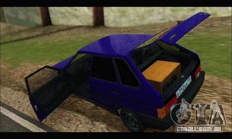 VAZ 2109 BPAN para GTA San Andreas vista traseira