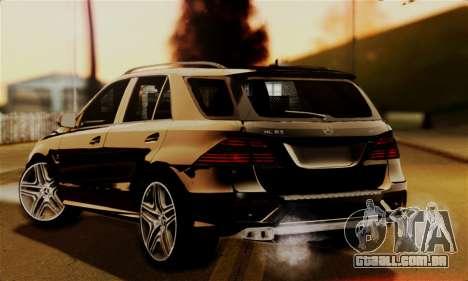 Mercedes-Benz ML63 AMG para GTA San Andreas esquerda vista