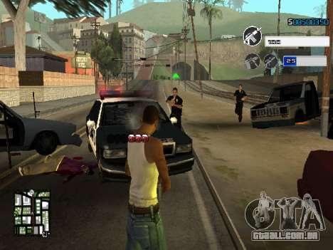C-HUD by SampHack v.22 para GTA San Andreas terceira tela