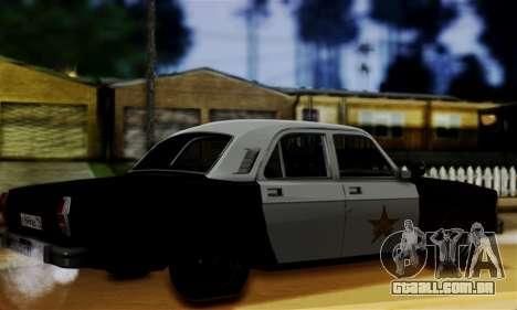 GAZ 3102 Volga - Sheriff para GTA San Andreas esquerda vista
