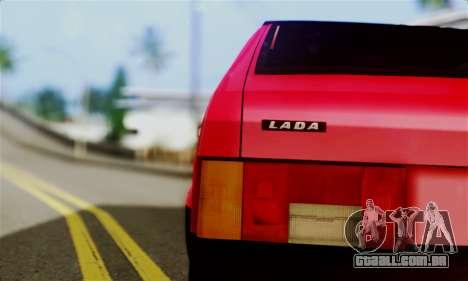 VAZ 2108 Hobo para GTA San Andreas traseira esquerda vista